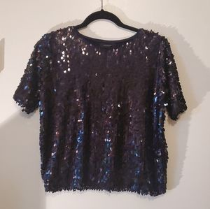 Atmosphere sequin blue sweater